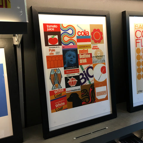 Sainsbury's Collage Giclee Print - Exclusive