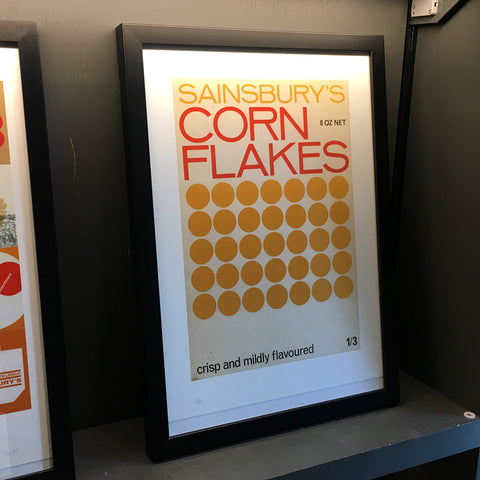 Sainsbury's Own Cornflakes Giclee Print - Exclusive