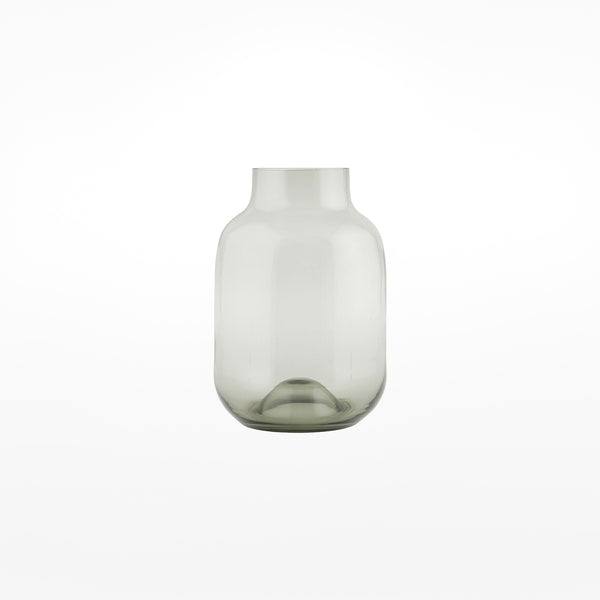 Shaped Glass Vase - small grey