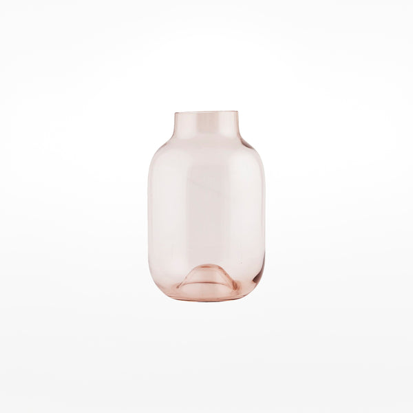 Shaped Glass Vase - small pink