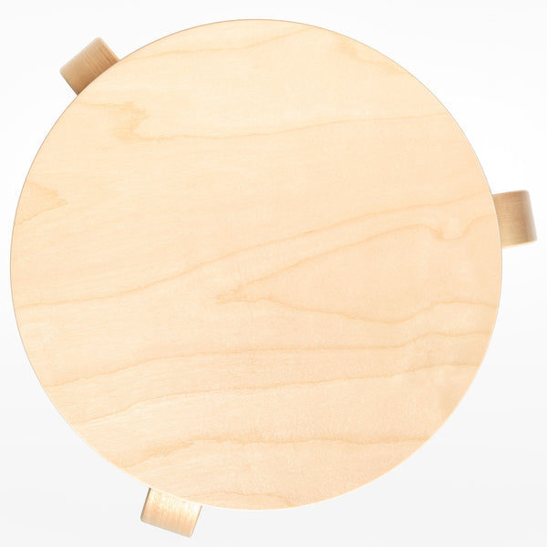 Artek 60 stool from above - birch