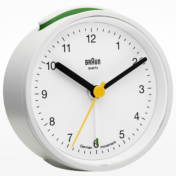 Braun round travel alarm clock
