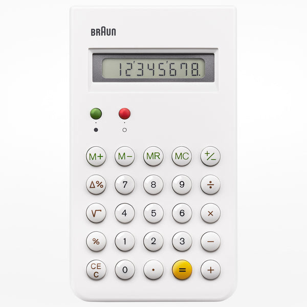 Braun pocket calculator - white