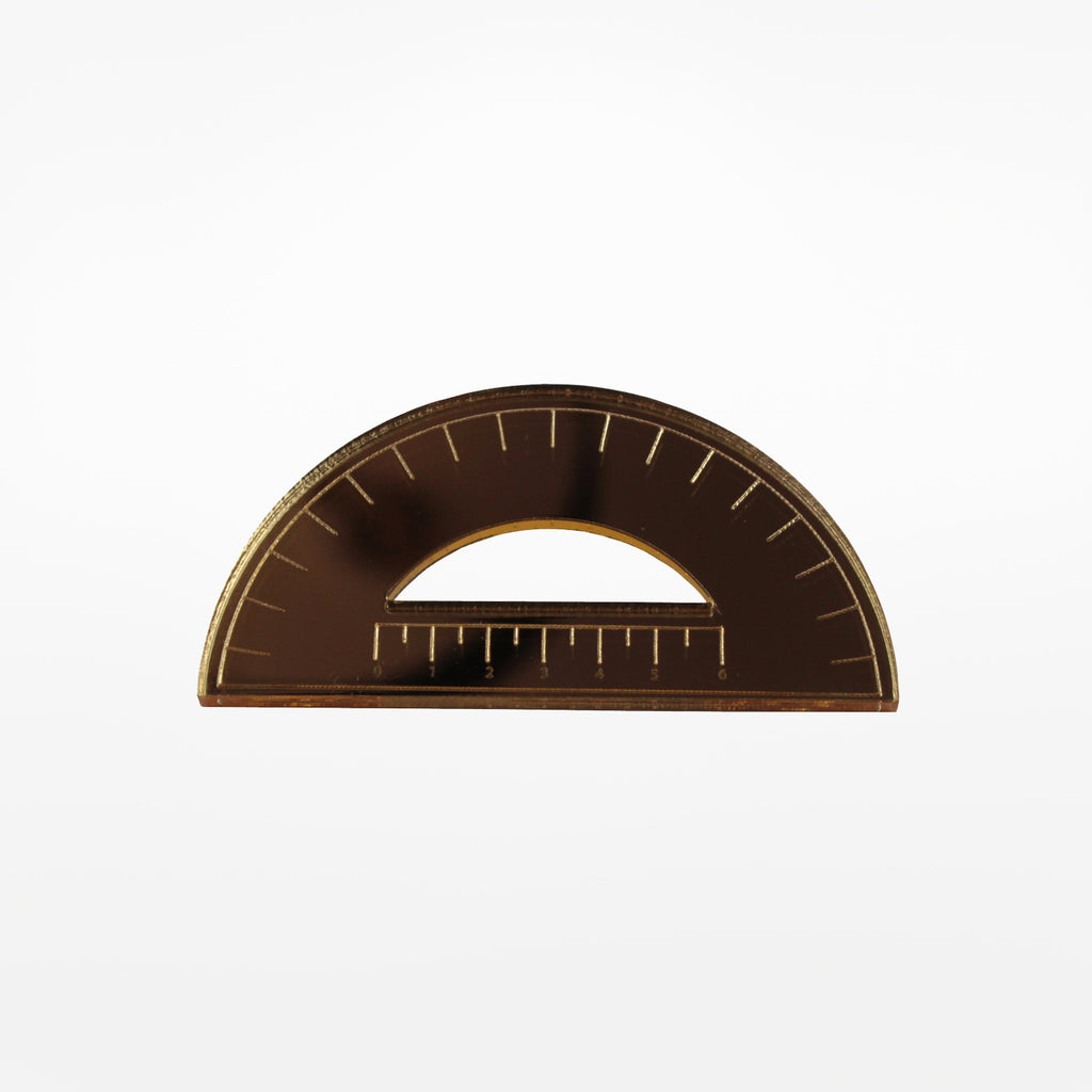 Protractor Brooch
