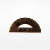 Protractor Brooch - gold