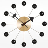 George Nelson Ball Clock - Brass and Black
