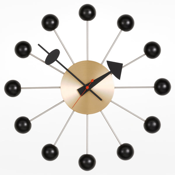 Ball Clock - Brass and Black (ex-display)