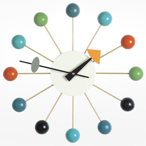 Ball Clock - Brass and Black