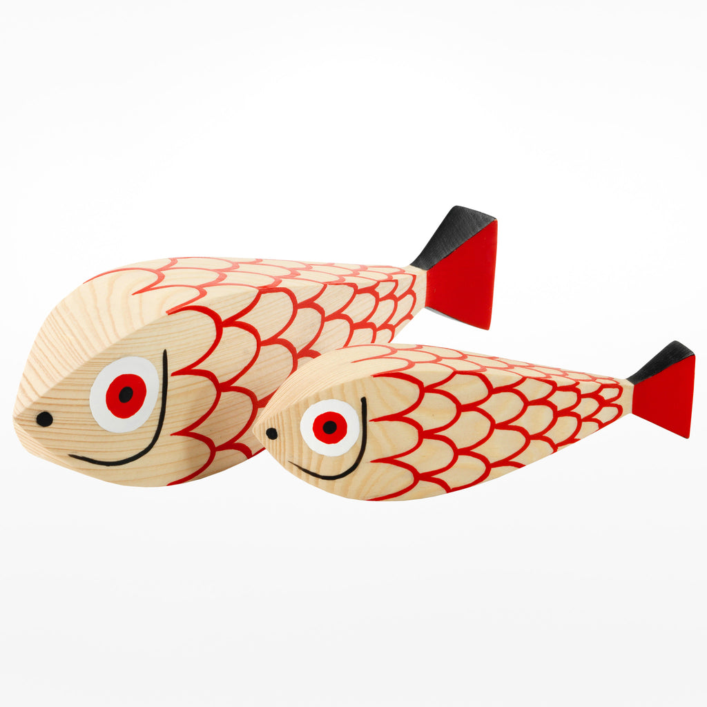 Wooden Mother Fish & Child