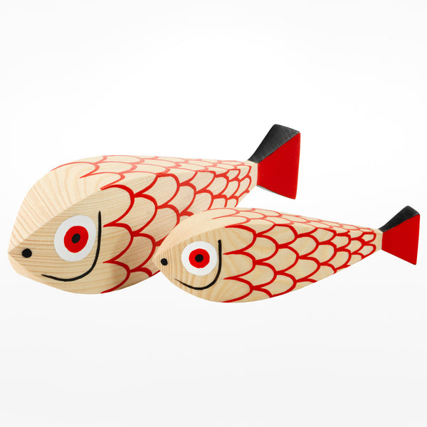 Wooden Mother Fish & Child by Alexander Girard