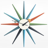 Sunburst Clock - Multicoloured