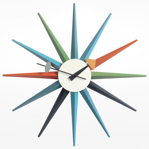Sunburst Clock - Walnut