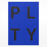 Playtype notebook - blue front