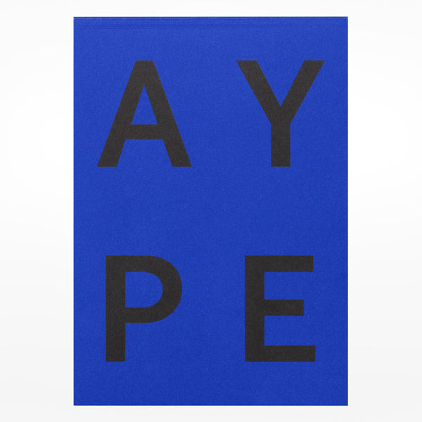 Playtype notebook - blue back