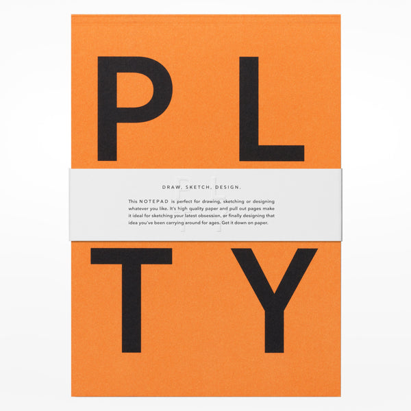 Playtype notebook - orange