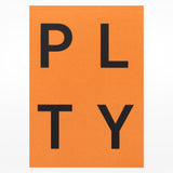 Playtype notebook - orange front