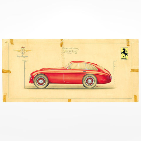 Enzo Automobile Club member postcard