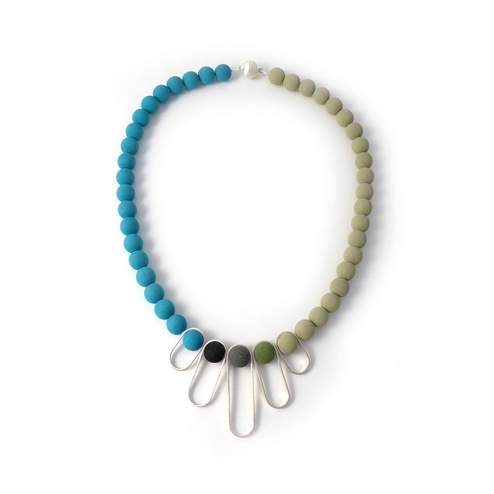 Oxx two tone loop necklace