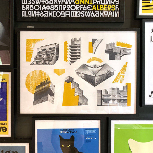 London Architecture Icons Screenprint