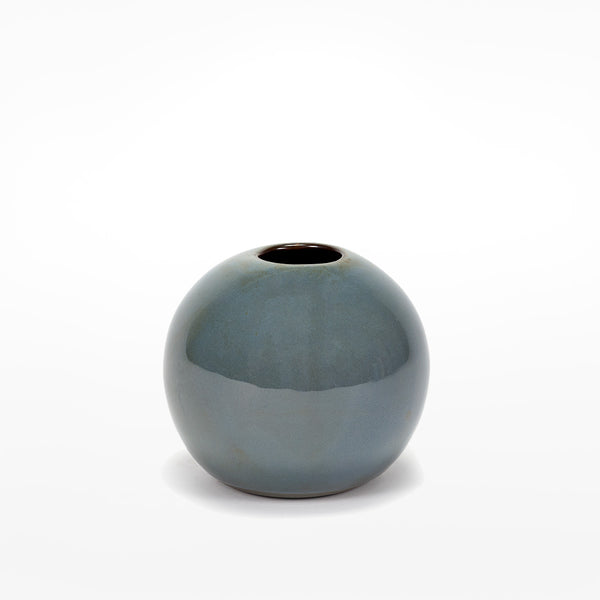 Anita Le Grelle Medium Ball Vase - Smokey Blue