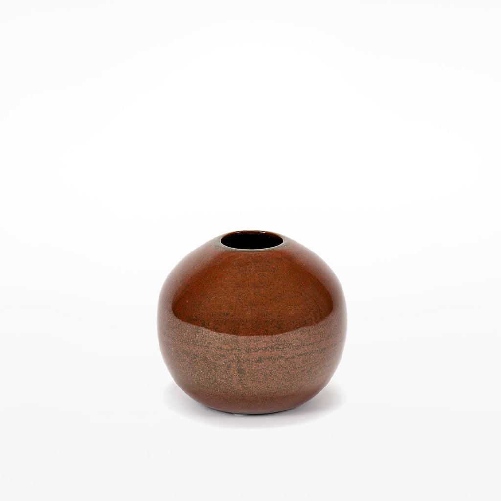 Anita Le Grelle Small Ball Vase - Rust