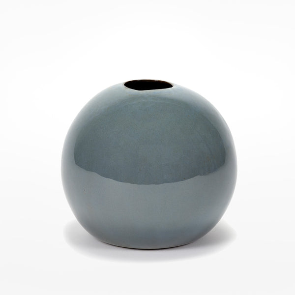 Anita Le Grelle Extra Large Ball Vase - smokey blue