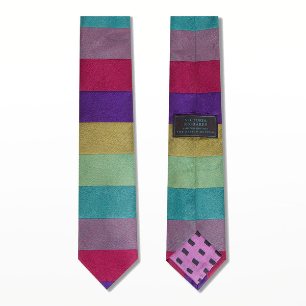 Victoria Richards limited edition tie - Colour Bands