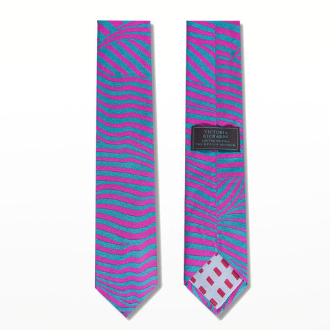 Victoria Richards limited edition tie - Wavy Lines