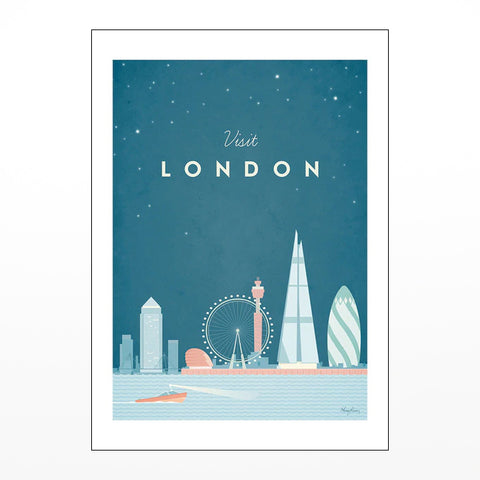 Jazzberry Blue London Map Card