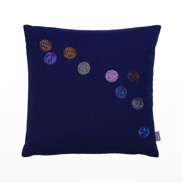 Hella Jongerius dot pillow - ink blue