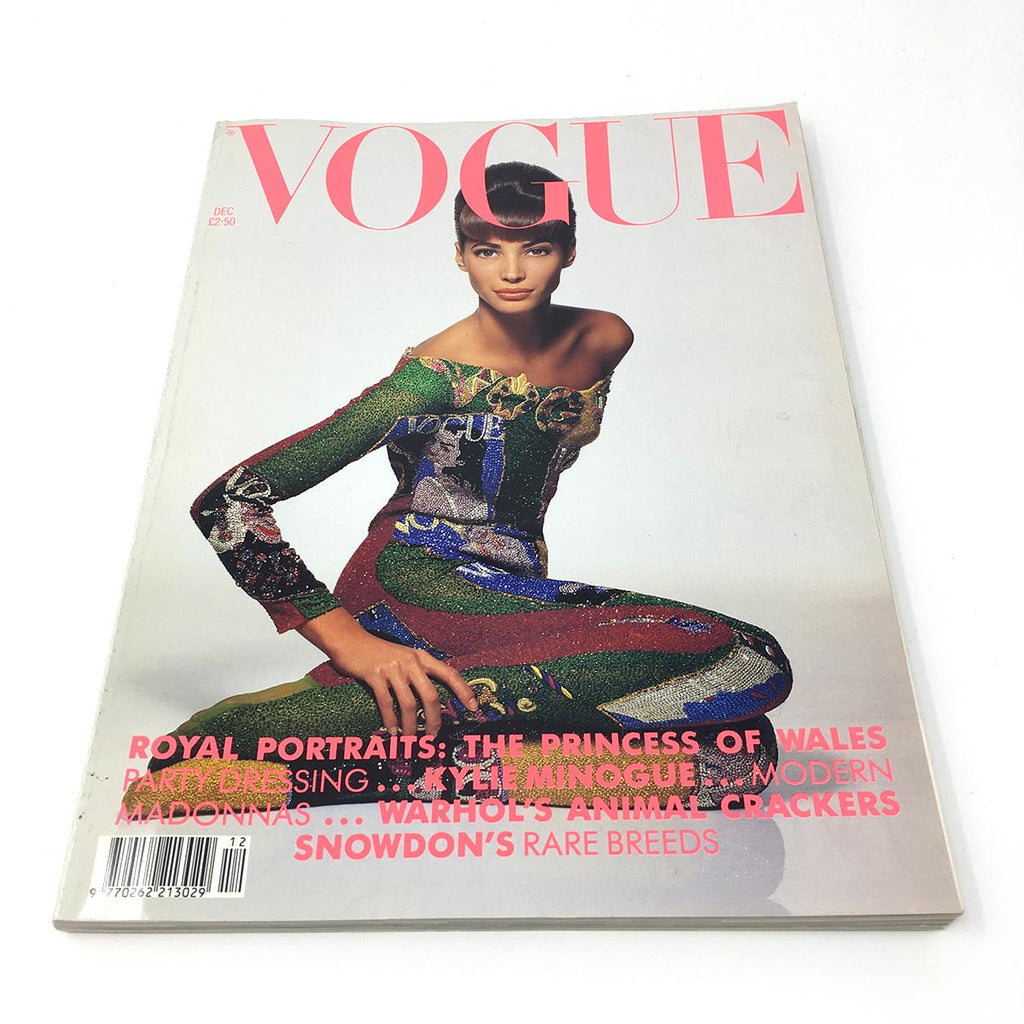 Vintage VOGUE Magazine - Dec 1990