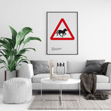 Wild Horses and Ponies Road Sign Print