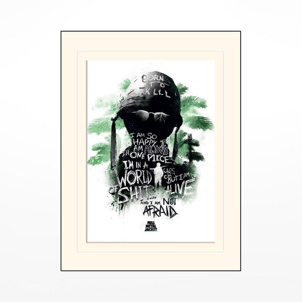 Full Metal Jacket Mounted Print