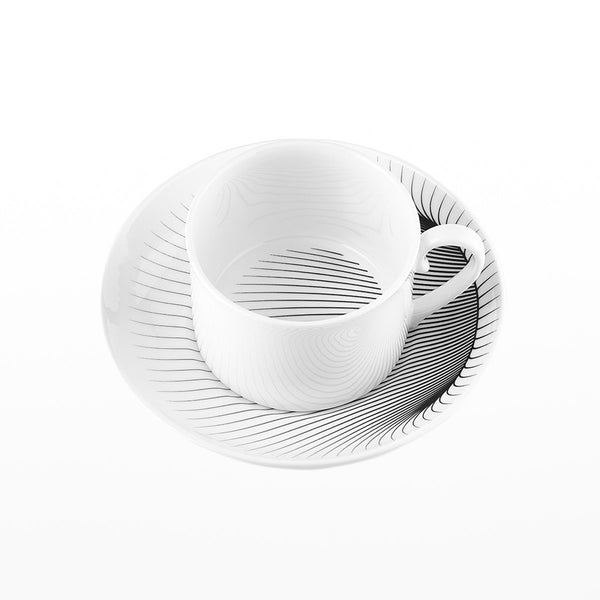 Illusion Tea Cup and Saucer - Zaha Hadid Design
