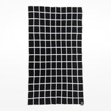 Grid Baby Blanket - black