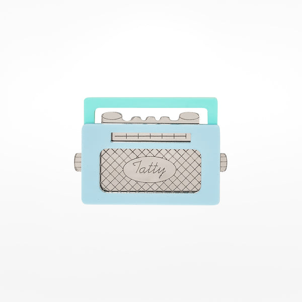 Radio Blue Brooch