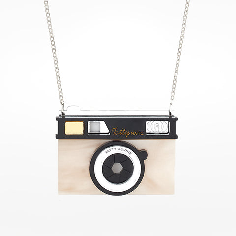 Camera Pearl Necklace