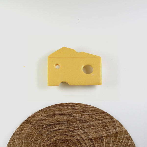 Slice of Cheese pin badge
