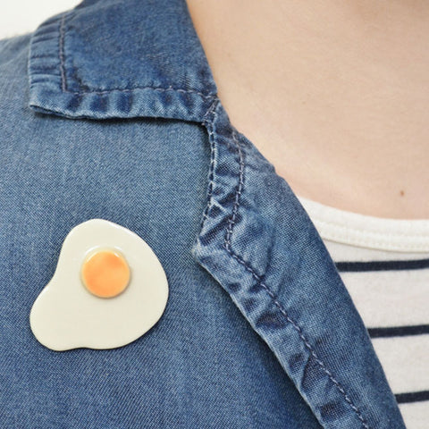 Fried Egg pin badge
