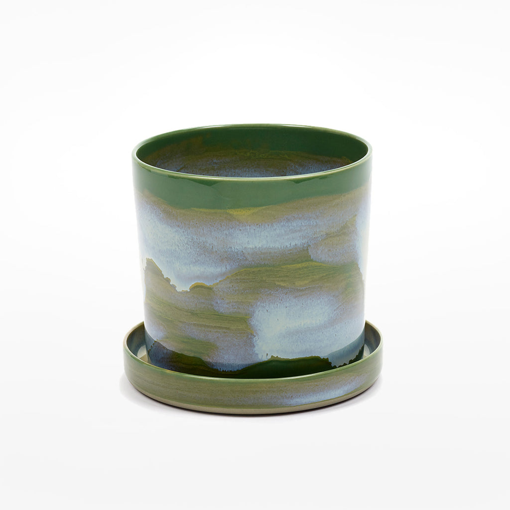 Large Herb Pot with Saucer