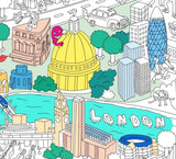 Colouring Poster of London