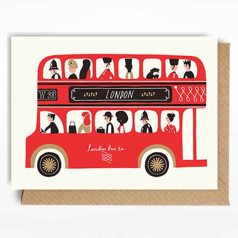 Lagom Cards mini London bus card