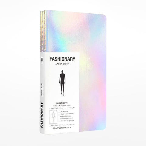 Fashionary Mens Neon Mini sketchbooks - set of 3