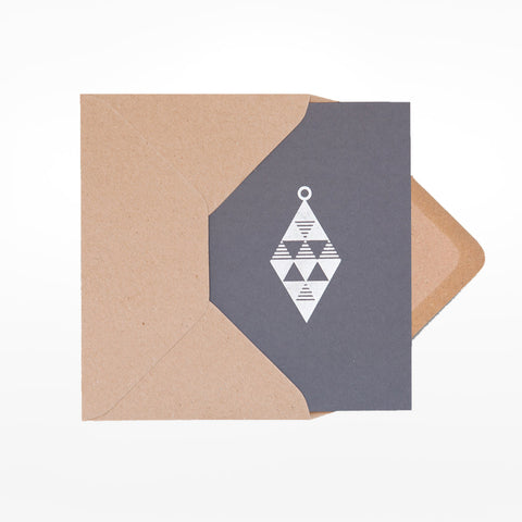 Foil blocked brass ornament Christmas card (set of 8)