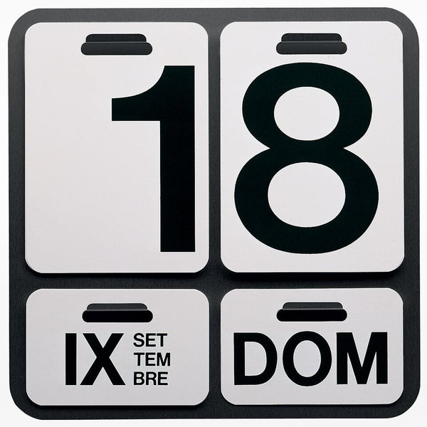 Formosa perpetual wall calendar replacement numbers black