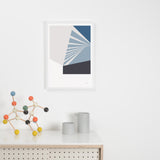 Tom Pigeon 'Plane' Series Print - Grey