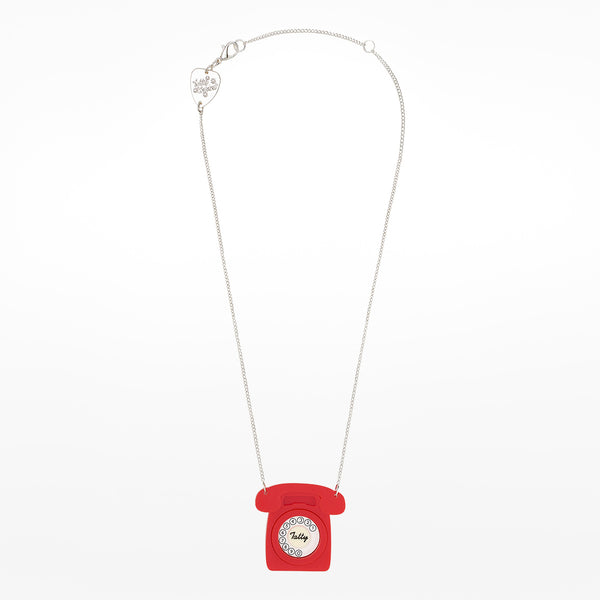 Red Telephone Necklace