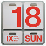 Formosa perpetual wall calendar replacement numbers red
