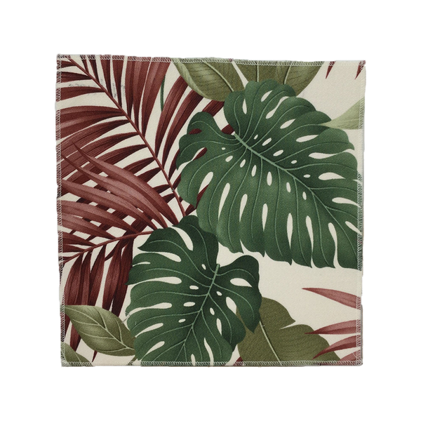 Natural Exotic Monsterra Hawaiian Barkcloth Upholstery Fabric