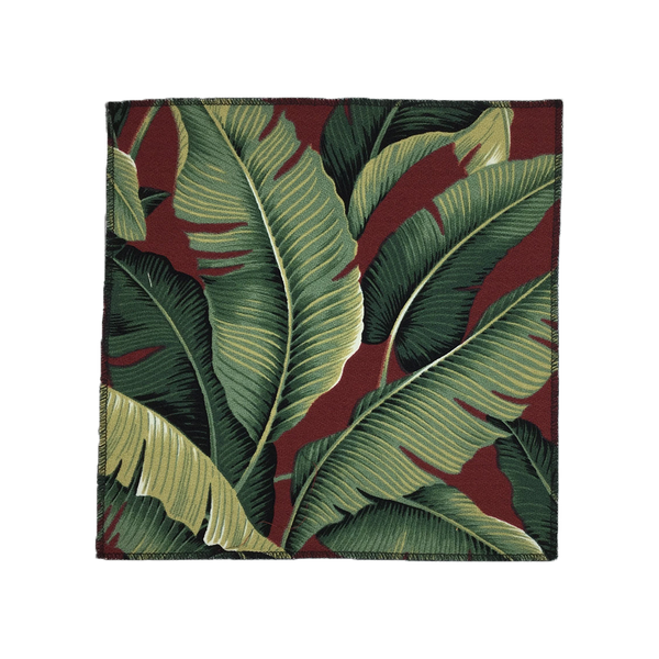 Red Banana Hawaiian Barkcloth Fabric
